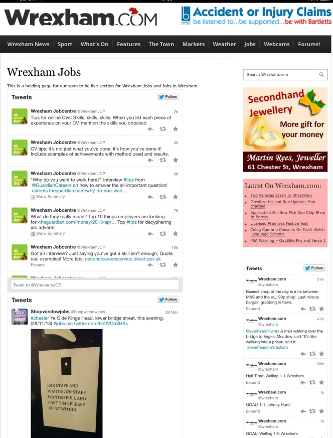 @shopwindowjobs on the wrexham.com jobs page