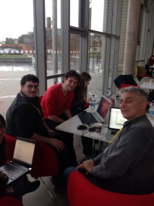 Jon Hilton, Keiran Evans and other NHS Hackers hard at it