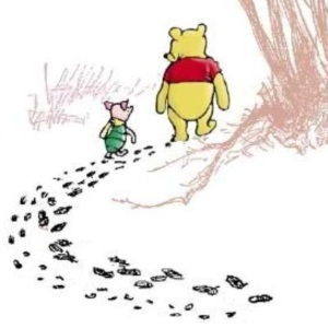 Woozle Hunting - from the Winnie the Pooh books by A.A.Milne