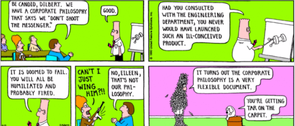 Dilbert by Scott Adams Feb 1990.