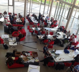 Cardiff NHS Hackday 2015 - from above