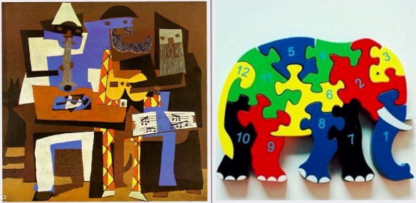 Synthetic Cubism verus ELC  Wooden Elephant. Reality versus expectations?