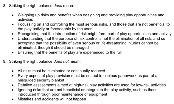 HSE Play and Leisure Guidance  Mistakes and Accidents WILL Happen!