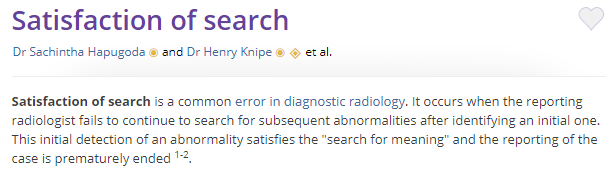 Satisfaction of Search